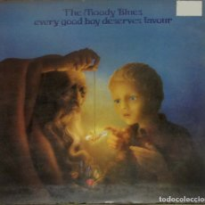 Discos de vinilo: MOODY BLUES. EVERY GOOD BOY DESERVES... THRESHOLD, 9129. ESPAÑA, 1972. FUNDA VG++. DISCO VG++. Lote 180917490