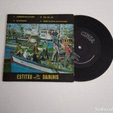 Discos de vinilo: ESTITXU Y LOS DAIKIRIS / ELDORADO / EP 45 RPM / CINSA 1968. Lote 180919526