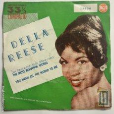 Discos de vinilo: SG DELLA REESE - THE MOST BEAUTIFUL WORDS. Lote 180922373