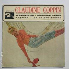 Disques de vinyle: EP ESPAÑOL - CLAUDINE COPPIN - SOLO PORTADA - LA PREMIERE FOIS. Lote 190076806