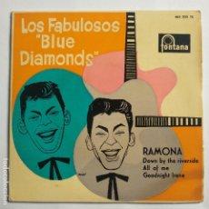Discos de vinilo: EP ESPAÑOL - LOS FABULOSOS BLUE DIAMONDS - RAMONA. Lote 180922922