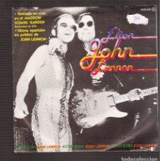 Discos de vinilo: SINGLES ORIGINAL DE ELTON JOHN Y LENON ULTIMA APARICION EN PUBLICO. Lote 180928832