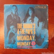Discos de vinilo: MAMA'S AND THE PAPA'S MONDAY MONDAY / CALIFORNIA DREAMIN' 1966 RCA ESPAÑA. Lote 180933750