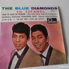 Discos de vinilo: THE BLUE DIAMONDS (EN ESPAÑOL) / QUE TE DEJE DE QUERER / JERICO + 2 (EP ESPAÑOL1964). Lote 180937057