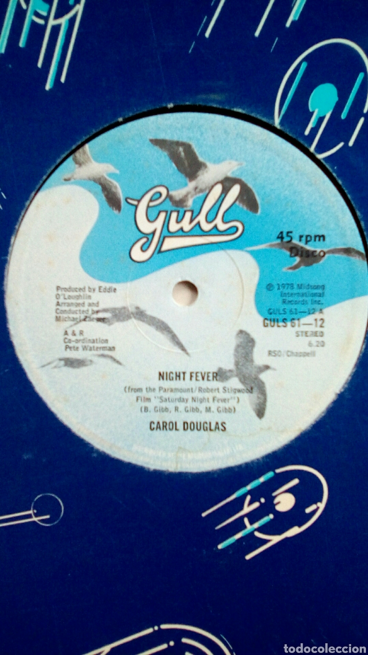 Discos de vinilo: Carol Douglas, Night fever / Let you Come..., Guls, 1978. UK. - Foto 2 - 180941616