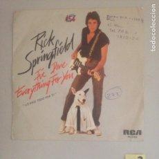 Discos de vinilo: RICK SPRINGFIELD. Lote 180942298