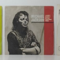 Disques de vinyle: 3 SINGLES - MICHAEL JACKSON / THE BEE GEES / ROBERT PALMER. Lote 180942675