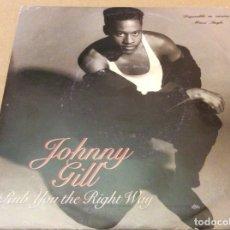 Discos de vinilo: JOHNNY GILL - RUB YOU THE RIGHT WAY. MOTOWN 1990. . Lote 180952920
