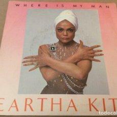 Discos de vinilo: EARTHA KITT. WHERE IS MY MAN. PROMOCIONAL, SOLO CARA A. CBS 1983.. Lote 180953856
