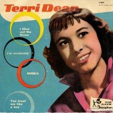Discos de vinilo: TERRI DEAN - I BLEW OUT THE FLAME + 3 - EP 1960 EDICION SPAIN - VINILO AZUL. Lote 180958216