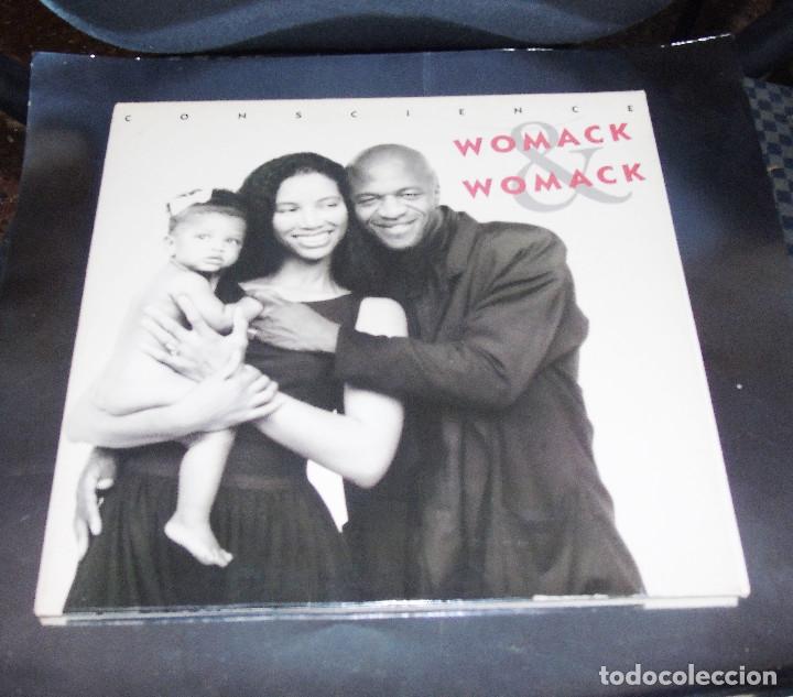 WOMACK & WOMACK --L.P.--CONSCIOUS OF MY CONSCIENCIE & CELEBRATE THE WORLD + 7 ---MINT ( M ) (Música - Discos - LP Vinilo - Disco y Dance)