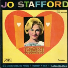 Discos de vinilo: JO STAFFORD - IF MY HEART HAD A WINDOW ( SI MI CORAZON TUVIERA UNA VENTANA ) + 3 - EP SPAIN 1962. Lote 180961227