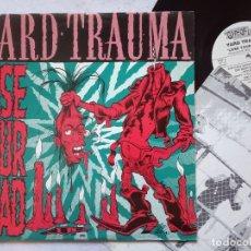 Discos de vinilo: YARD TRAUMA - LOSE YOUR HEAD - LP ALEMAN 1991 CON INSERTO - GIFT OF LIFE - GARAGE PUNK. Lote 180961643