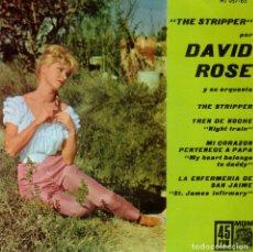 Discos de vinilo: DAVID ROSE - THE STRIPPER + 3 - EP SPAIN 1962. Lote 180962473