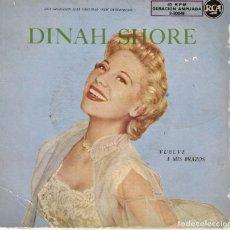 Discos de vinilo: DINAH SHORE - VUELVE A MIS BRAZOS + 3 EP SPAIN AÑOS 50. Lote 180964565