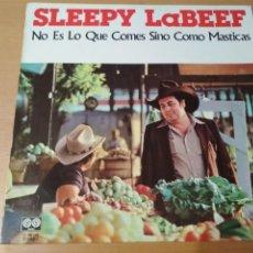 Discos de vinilo: SLEEPY LABEEF NO ES LO QUE COMES SINO COMO LO MASTICAS LP SPAIN. Lote 180968386