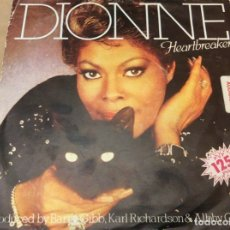 Discos de vinilo: DIONNE WARWICK - HEARTBREAKER / I CANT SEE ANYTHING BUT YOU. ARISTA 1982.. Lote 180973273