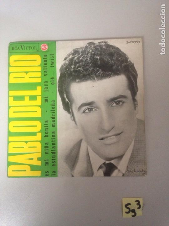 PABLO DEL RÍO (Música - Discos - Singles Vinilo - Flamenco, Canción española y Cuplé)