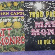 Discos de vinilo: 2 SINGLES. MATT MONRO.. Lote 180981227