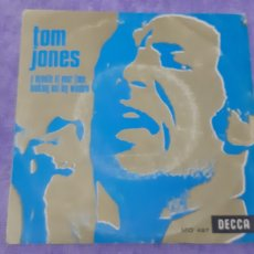 Discos de vinilo: SINGLE. TOM JONES. A MINUTE OF YOUR TIME LOOKING OUT WINDOW.. Lote 180981603
