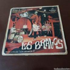 Discos de vinilo: LOS BRAVOS BRING A LITTLE LOVIN MAKE IT LAST 45 R.P.M. SINGLE. Lote 180982403
