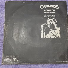 Discos de vinilo: CANARIOS (SINGLE 1968) REQUIEM FOR A SOUL A OTTIS REDING. NIÑO.. Lote 180983432