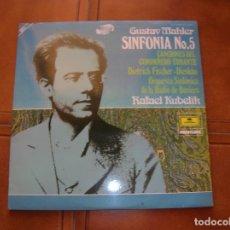 Discos de vinilo: LP DE GUSTAV MAHLER ,SIMFONIA N,5 ,ORQUESTA SIMFONICA DE LA RADIO DE BABIERA. Lote 180992330