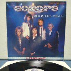Discos de vinilo: EUROPE - ROCK THE NIGHT 1986 EP ED HOLANDESA. Lote 180995187