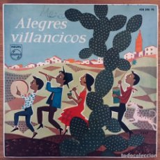 Discos de vinilo: ALEGRES VILLANCICOS EP ESPAÑA. Lote 180996483