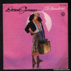 Discos de vinilo: SINGLE: DONNA SUMMER (THE WANDERER / STOP ME) · WEA INTERNATIONAL / HISPAVOX, 1980 . Lote 181000617