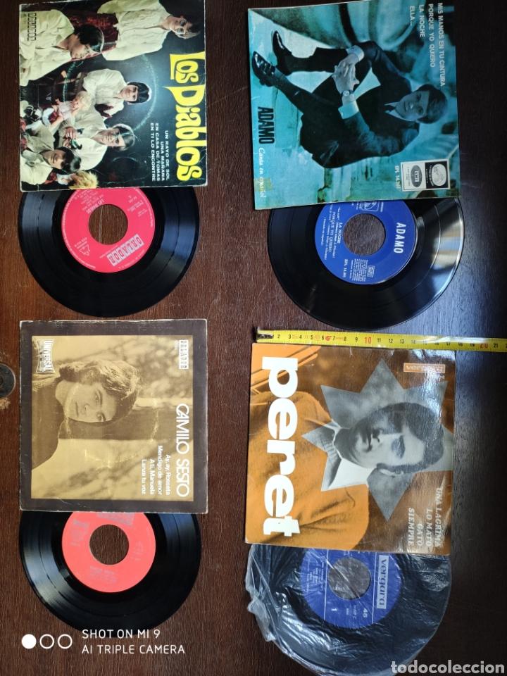 LOTE 4 VINILOS ANTIGUOS. CAMILO SESTO, LOS DIABLOS, ADAMO,PERET (Música - Discos de Vinilo - Maxi Singles - Solistas Españoles de los 50 y 60)