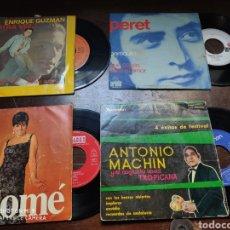 Discos de vinilo: LOTE 4 VINILOS ANTIGUOS. PERET, SALOMÉ, ANTONIO MACHÍN, ENRIQUE GUZMÁN.. Lote 181006076