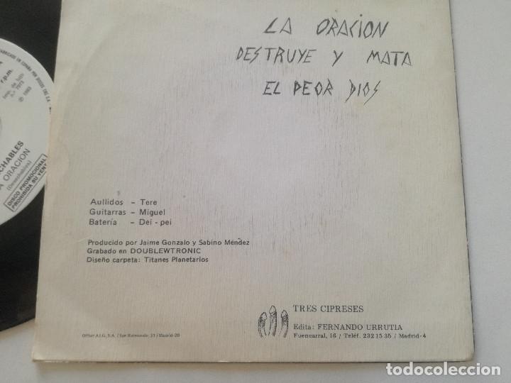 Discos de vinilo: DESECHABLES - La Oracion +2 - EP ORIGINAL 3-CIPRESES PROM0 1983 // KBD PUNK KILLER VULPESS - Foto 5 - 181011328