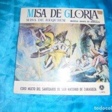 Discos de vinilo: MISA DE GLORIA / MISA DE REQUIEM. CORO MIXTO SANTUARIO SAN ANTONIO DE ZARAGOZA. PAX, 1968. IMPECA .. Lote 181012210