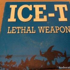 Discos de vinilo: ICE-T - LETHAL WEAPON. PROMOCIONAL 1989.. Lote 181015847