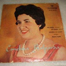 Discos de vinilo: CONCHITA BALPARDA - AVE MARÍA SCHUBERT, AVE MARÍA GOUNOD - DIRECTOR: MAESTRO TEJADA - EP VINILO. Lote 181018705