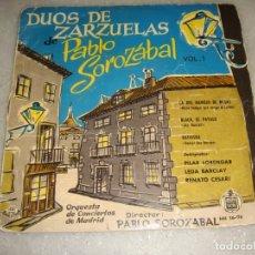 Discos de vinilo: DÚOS DE ZARZUELAS DE PABLO SOROZÁBAL.. Lote 181019443