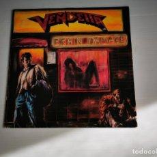 Discos de vinilo: VENDETTA - BRAIN DAMAGE LP 1988 EDICION ALEMANA THRASH METAL. Lote 181026692