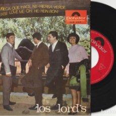 Discos de vinilo: LOS LORD'S - LA MUÑECA QUE HACE NO + 3 (EP POLYDOR 1967). Lote 181034713