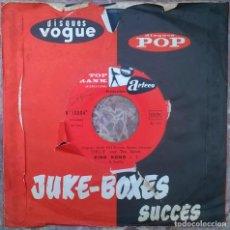 Discos de vinilo: ORLIE AND THE SAINTS. KING KONG/ TWIST ET STOP. TOP RANK INTERNATIONAL, FRANCE 1962 SINGLE. Lote 181082126