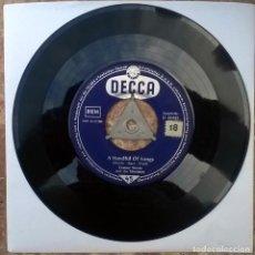 Discos de vinilo: TOMMY STEELE. A HANDFUL OF SONGS/ WATER WATER. DECCA, GERMANY 1957 SINGLE. Lote 181086333