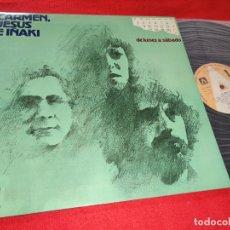 Discos de vinilo: CARMEN JESUS E IÑAKI DE LUNES A SABADO LP 1977 AMBAR GATEFOLD COMO NUEVO. Lote 181101738