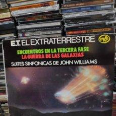 Discos de vinilo: E.T. EL EXTRATERRESTRE ENCUENTROS EN LA TERCERA FASE LA GUERRA DE LAS GALAXIAS JOHN WILLIAMS. Lote 181106248