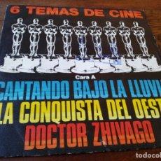 Discos de vinilo: 6 TEMAS DE CINE - SINGLE ORIGINAL PROMOCIONAL POLYDOR AÑO 1980. Lote 181110541