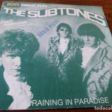 Discos de vinilo: THE SUBTONES - RAINING IN PARADISE RADIO MIX - SINGLE ORIGINAL PROMOCIONAL PDI TELDEC AÑO 1986. Lote 181110978