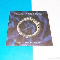 Discos de vinilo: THE ALAN PARSONS PROJECT --- LET´S TALK ABOUT ME / HAWKEYE. Lote 181135783