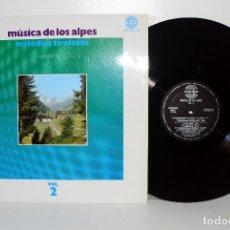 Discos de vinilo: MÚSICA DE LOS ALPES, VOL. 2, FOLCLORE TIROLÉS HISPAVOX ESPAÑA 1969 COMO NUEVO. Lote 181174592