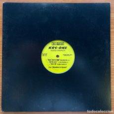 Discos de vinilo: KRS - ONE // ALBUM SAMPLER // PROMOCIONAL 'ADVENTURES IN EMCEEIN'. Lote 181187296