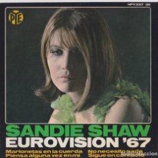Discos de vinilo: SANDIE SHAW - PUPPET ON A STRING - EUROVISIÓN 1967. Lote 181193063