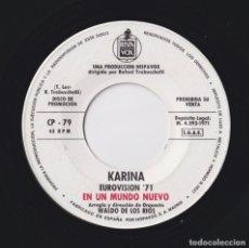 Discos de vinilo: KARINA - EN UN MUNDO NUEVO - PROMO. Lote 181196293